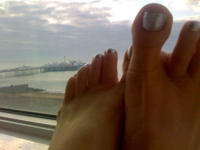 My toes on their birthday